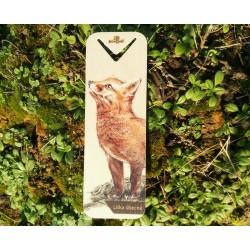 Dřevěná záložka liška obecná