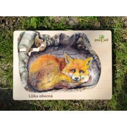Puzzle velké - kam se schoulila liška?