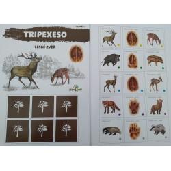 Tripexeso s lesními zvířaty