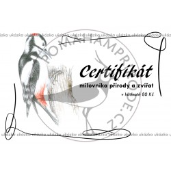 Certifikát strakapoud