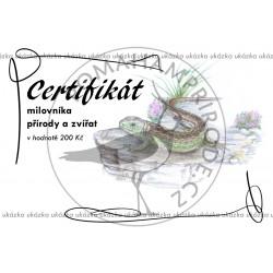 Certifikát ještěrka