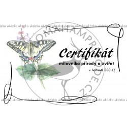 Certifikát motýl
