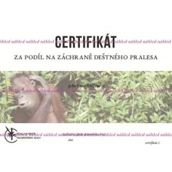 Certifikát orangutan
