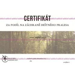 Certifikát prales