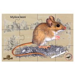 Puzzle do kapsy myšice