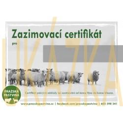 Zazimovací certifikát