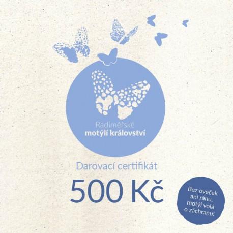 Certifikát pro Radiměř 500 Kč