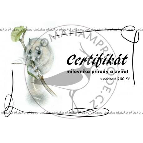Certifikát plch