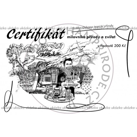 Certifikát tropy II