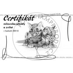 Certifikát tropy ZNO