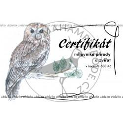 Certifikát puštík