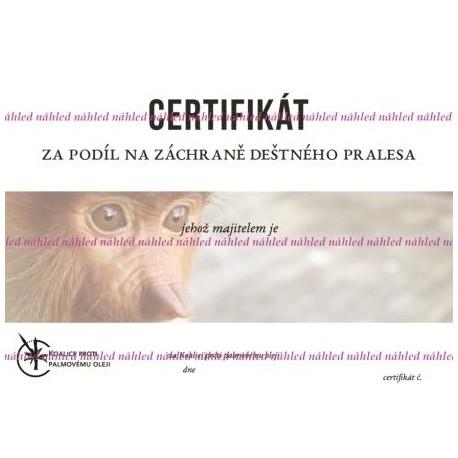 Certifikát oči