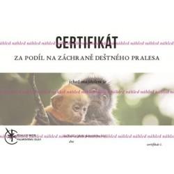 Certifikát opice